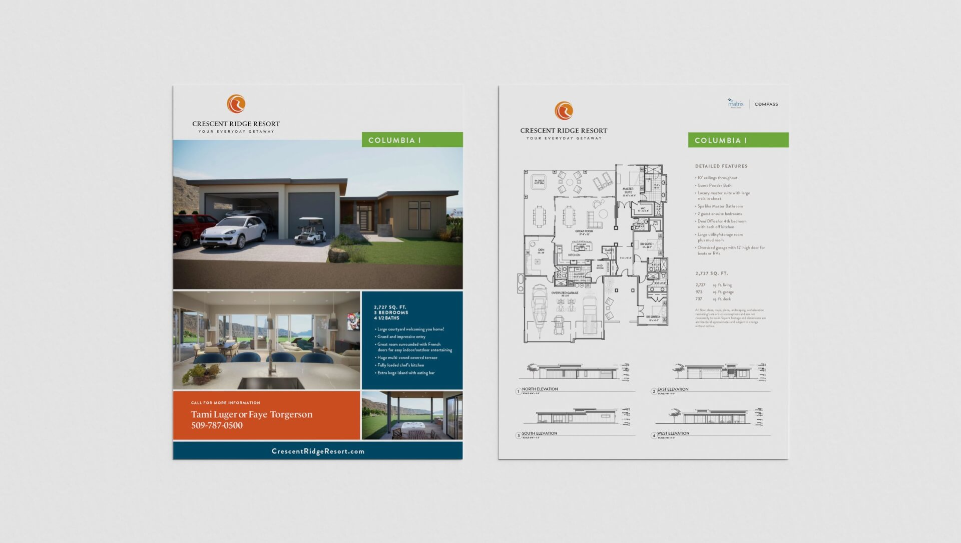 Dual A4 Paper Mockup by Anthony Boyd Graphics